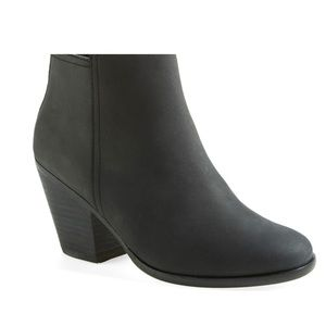 """Cole Haan """"Chesney"""" Round Toe Booties in BLACK"""